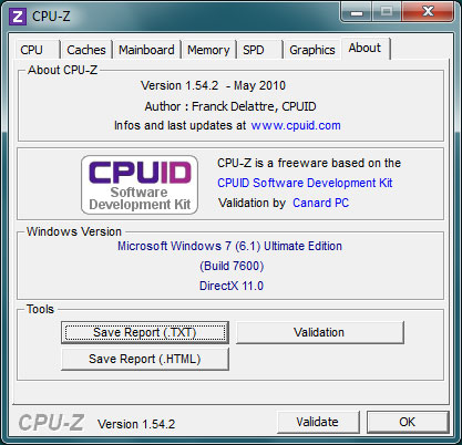 Screenshot 4 CPU-Z